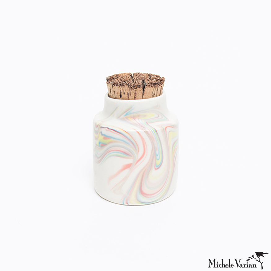 Candy Marbled Porcelain Spice Jar