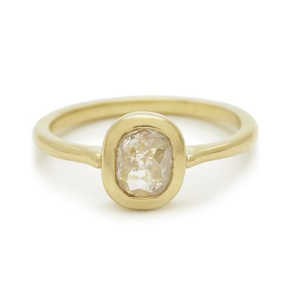 Rosecut Diamond Shape #3 Gold Ring