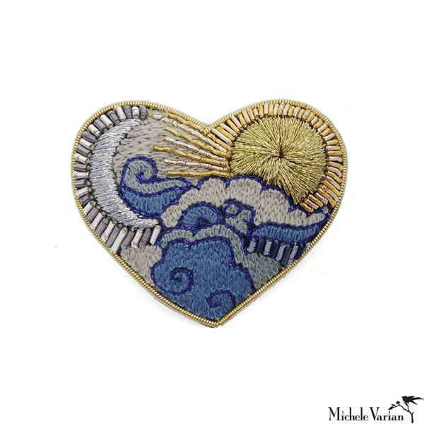 Celestial Heart Brooch Pin