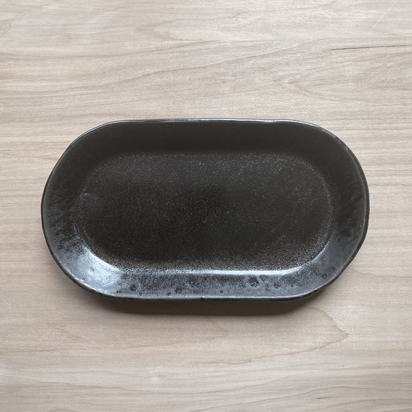 Small Oval Platter Black