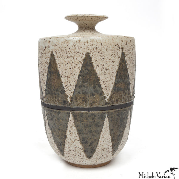 Chevron Lidded Jar