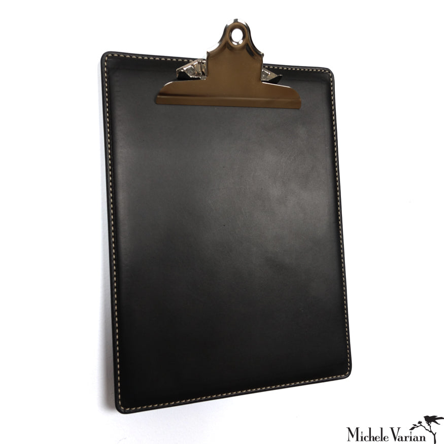 Leather Clipboard Black
