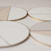 Hand Painted Wooden Coasters White