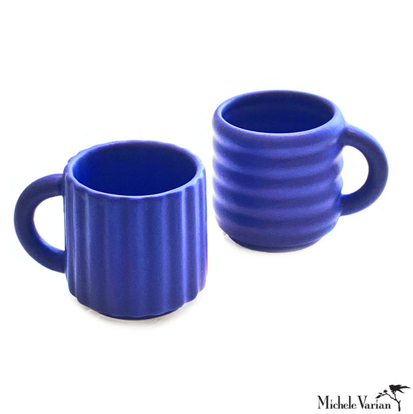 Cobalt Ripple Espresso Cup Set of 2