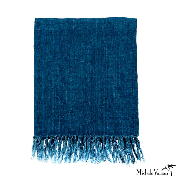 Linen Throw Cobalt