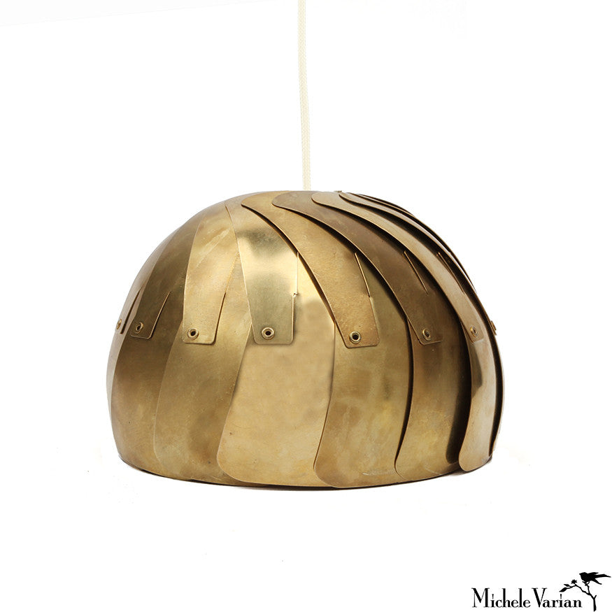 Brass Aperture Pendant Lamp Small Gold