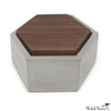 Walnut Lid Concrete Box Hexagon