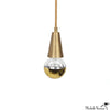 Primary Cone Pendant Light in Brass