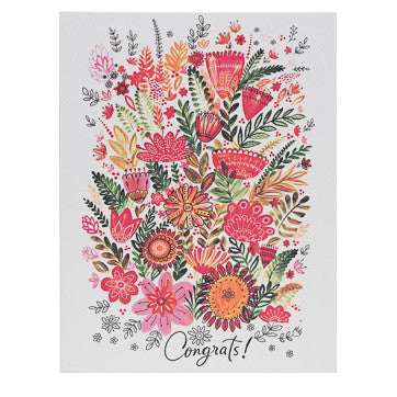 Congrats Flower Card