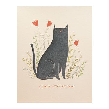 Congratulations Blue Cat Card