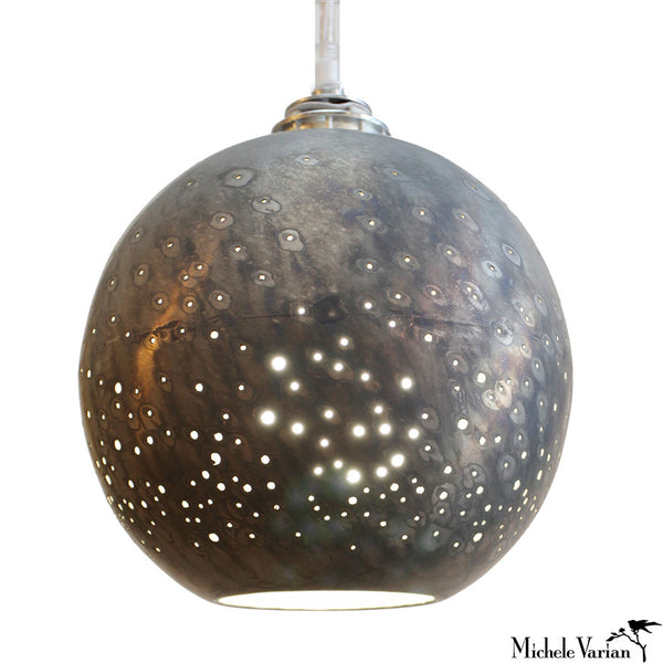 Constellation Pendant Large Gunmetal Globe