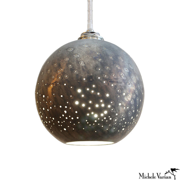 Constellation Pendant Small Gunmetal Globe