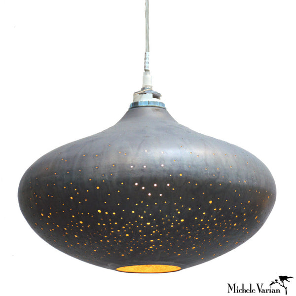 Constellation Pendant Gunmetal Saucer