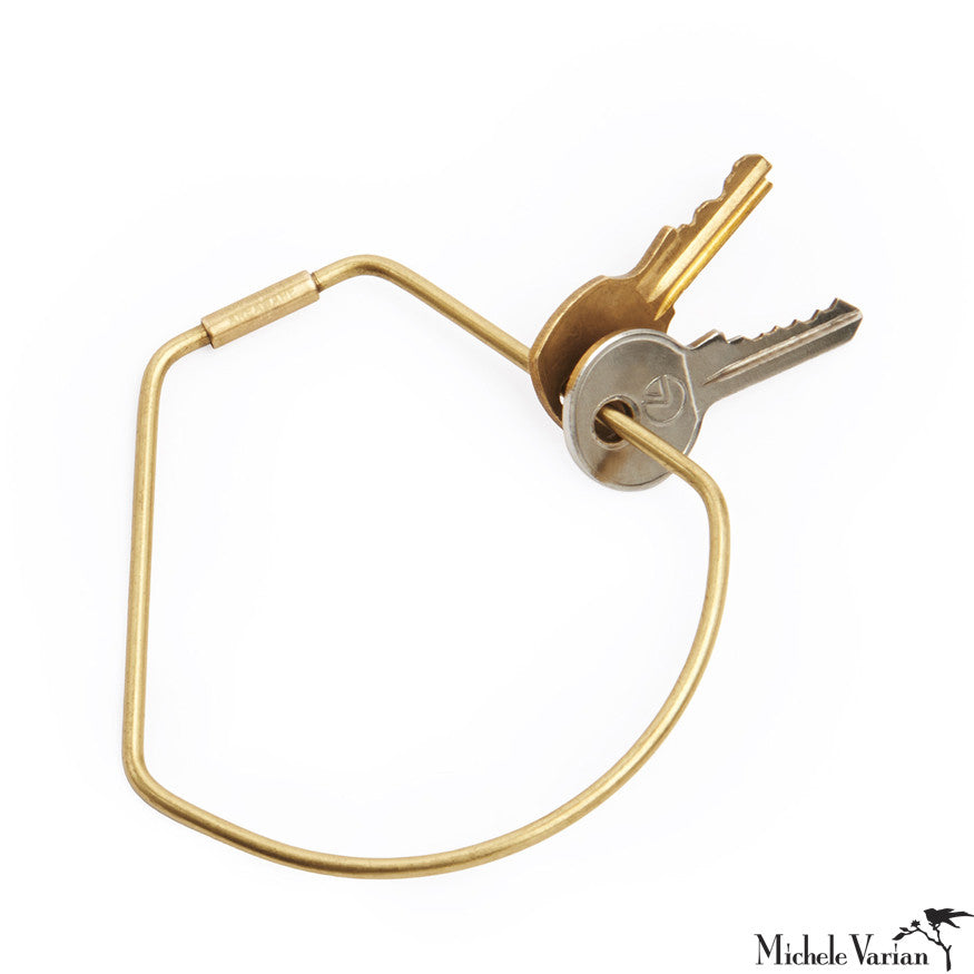 Brass Contour Key Ring Bell