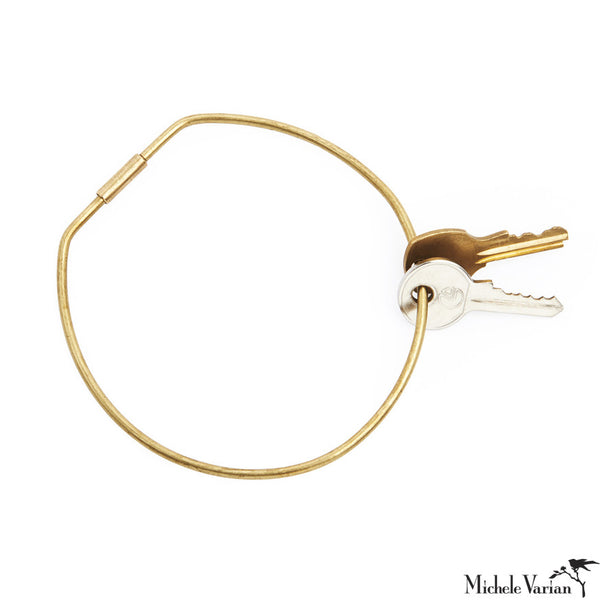 Brass Contour Key Ring Hoop