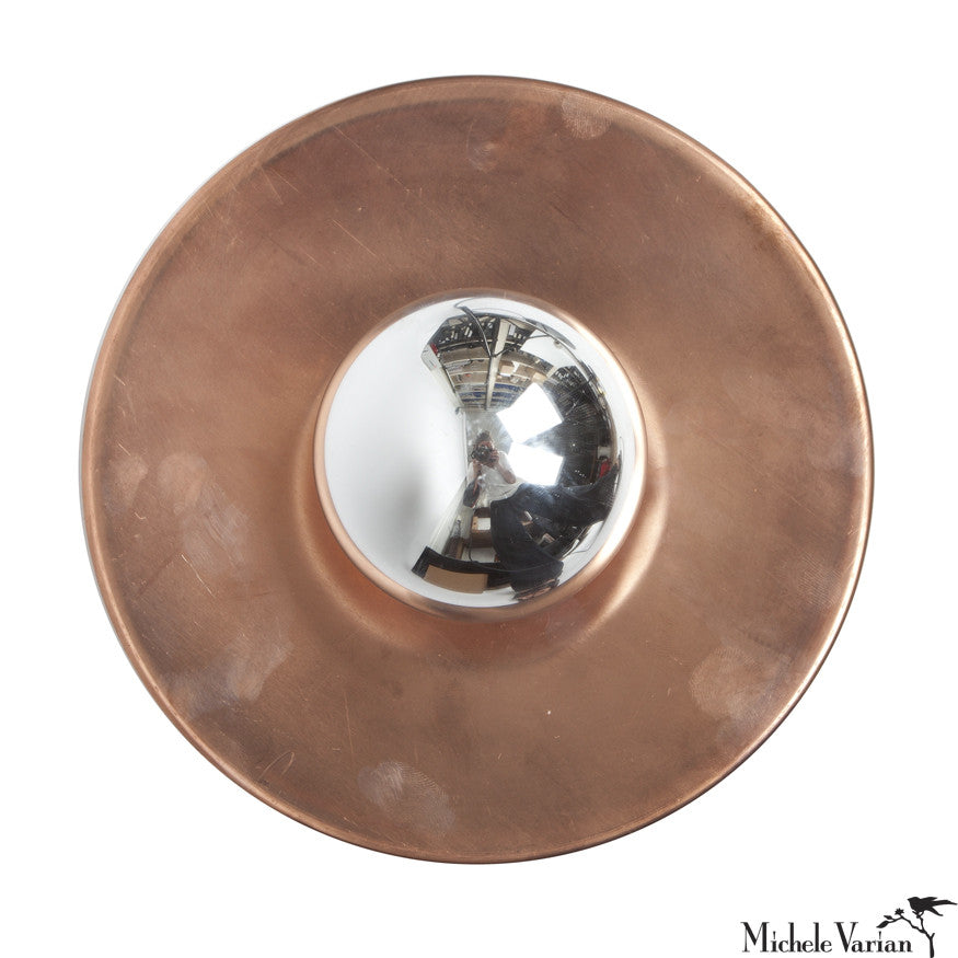 Copper 8 inch Discus Sconce Light