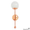 Copper Globe Sconce Light