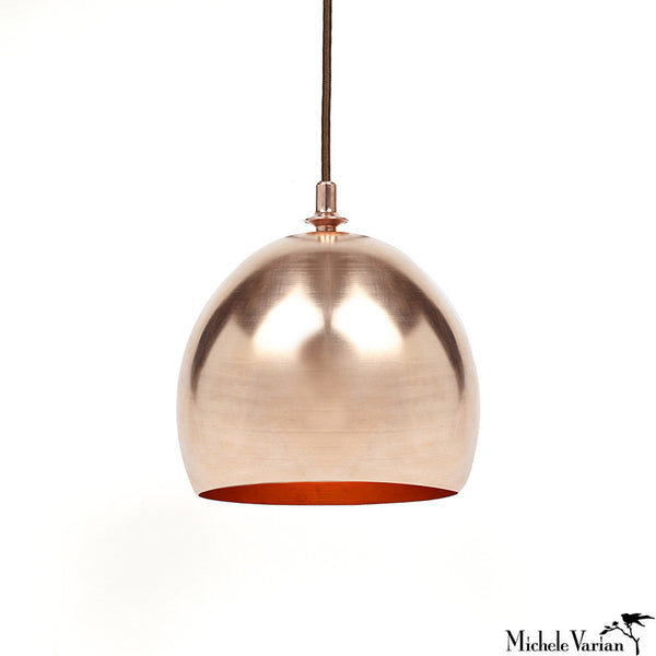 Copper Dome Pendant Lamp