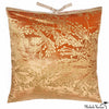 Printed Velvet Pillow Copper Sprig 22x22