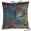 Printed Velvet Pillow Coral 22x22