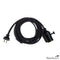 Black Cord Kit With Black Cloth Covered Cord