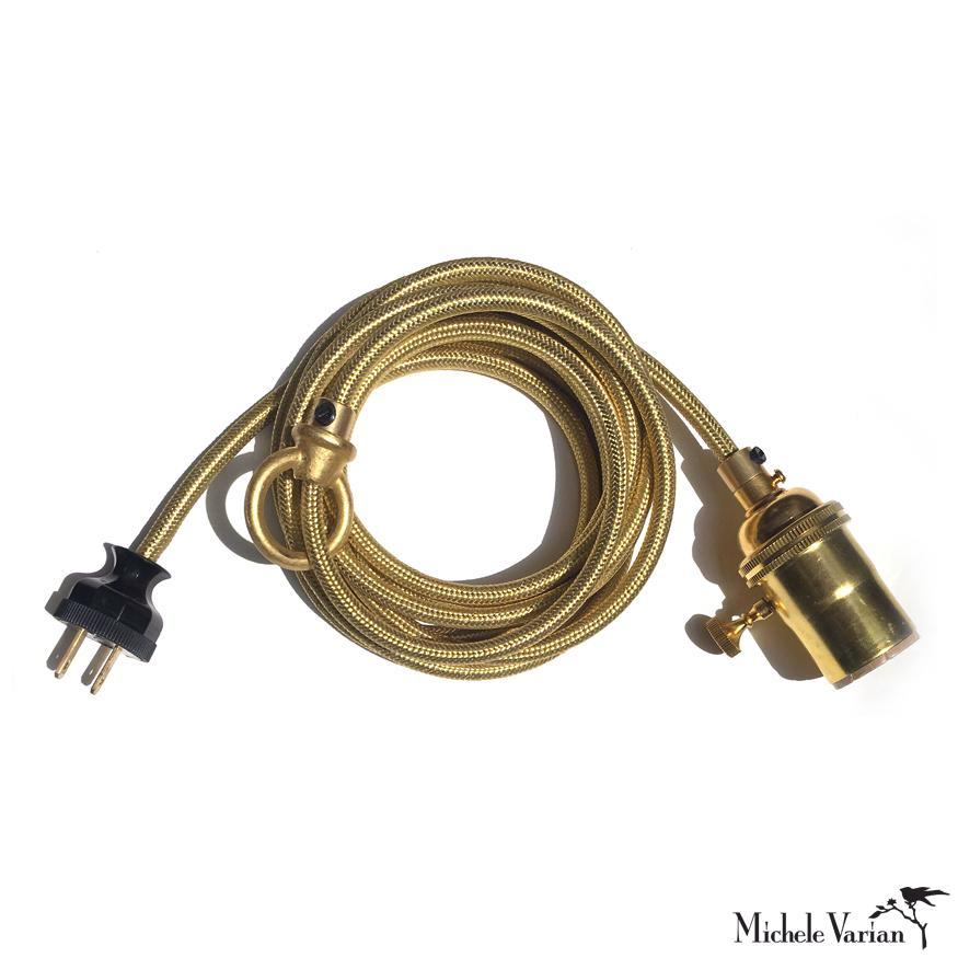Cord Kit Light Fixture Brass & Gold
