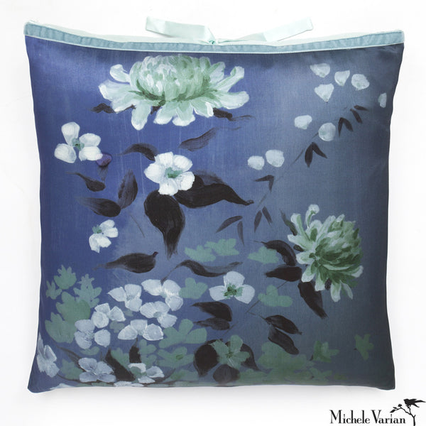 Silk Print Pillow Corn Flower  20x20