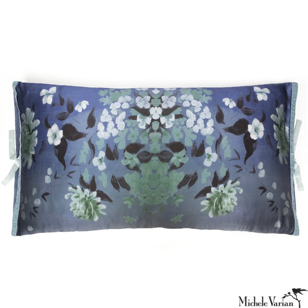 Silk Print Pillow Corn Flower 20x36