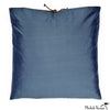 Silk Applique Pillow Cross Flint 16x16