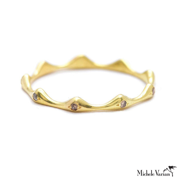Diamonds Crown Gold Band