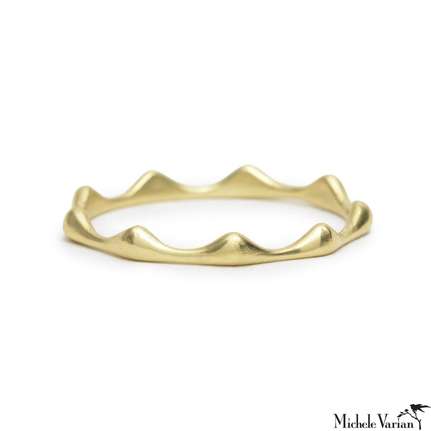 Solid Crown Gold Band