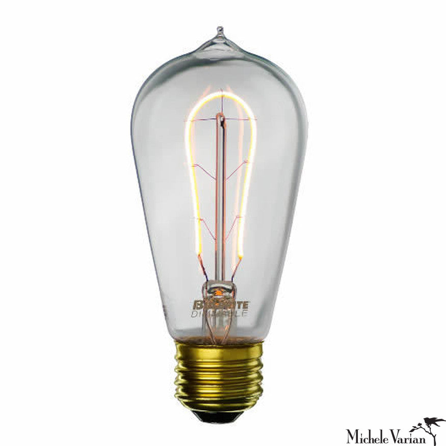 LED Antique Curved Filament E26 Base ST19 Bulb