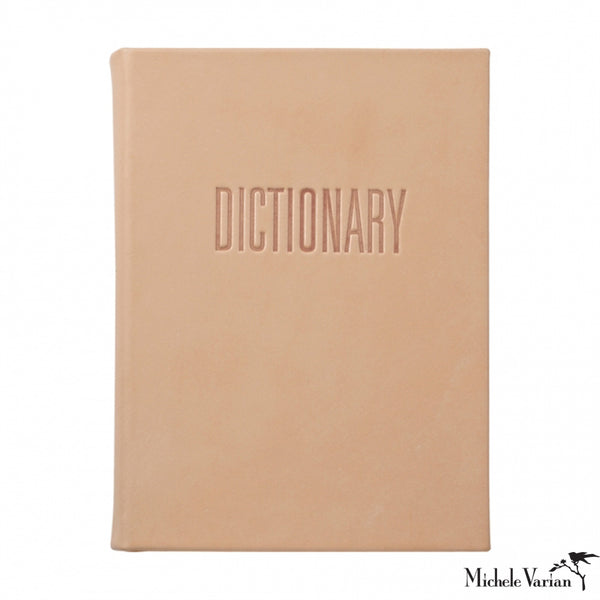 Natural Vachetta Leather Dictionary