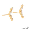 Pave Diamond Arrow Studs