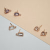 Milgrain Topaz Rose Gold Stud Earrings