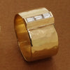 Baguette Diamond Wide Gold Band