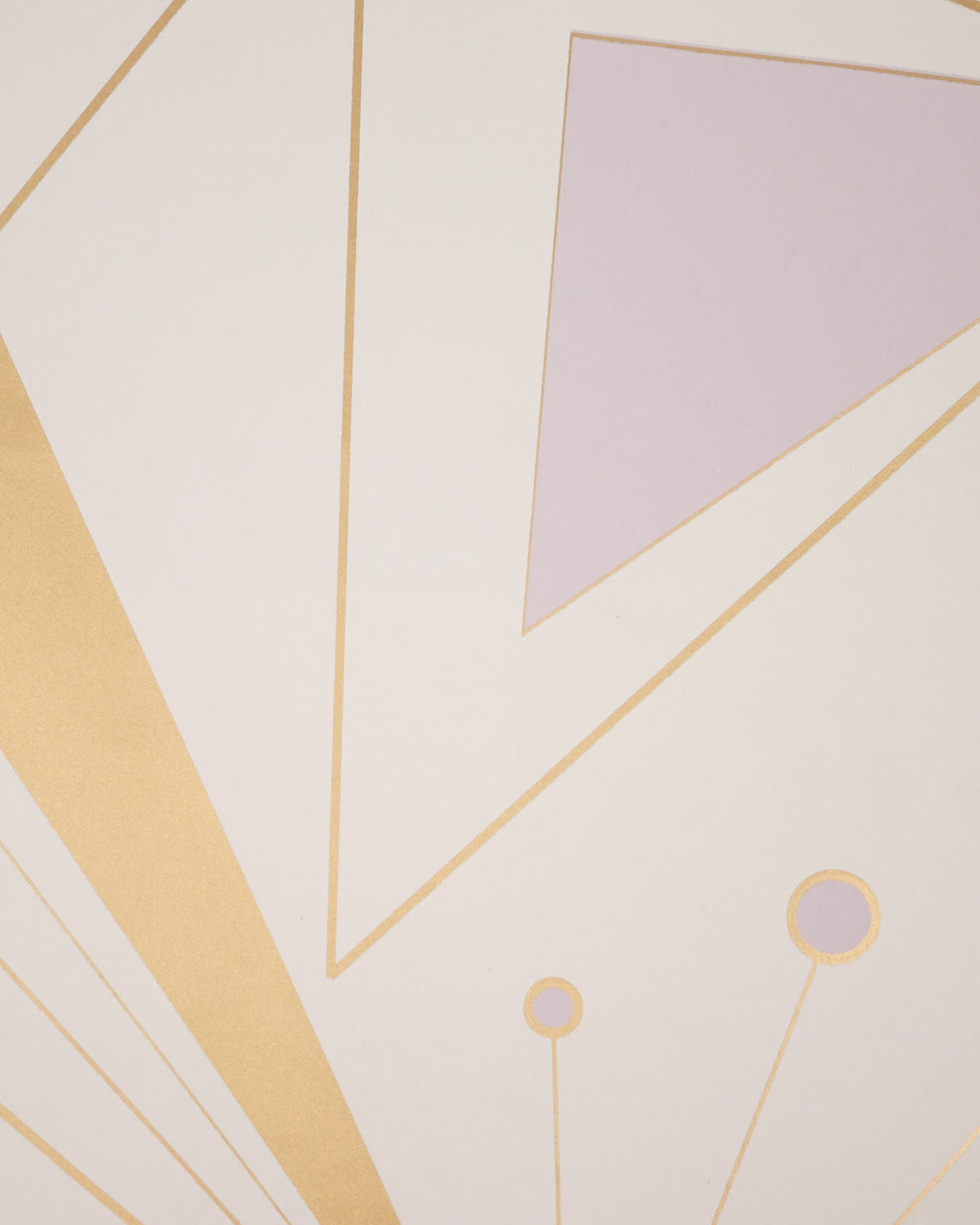 DecoPrism Wallpaper in Metallic Bronze and Lavender Mist