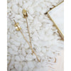 Element Brushed Brass Hair Pin