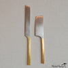 Brass and Nickel Cheese Knives
