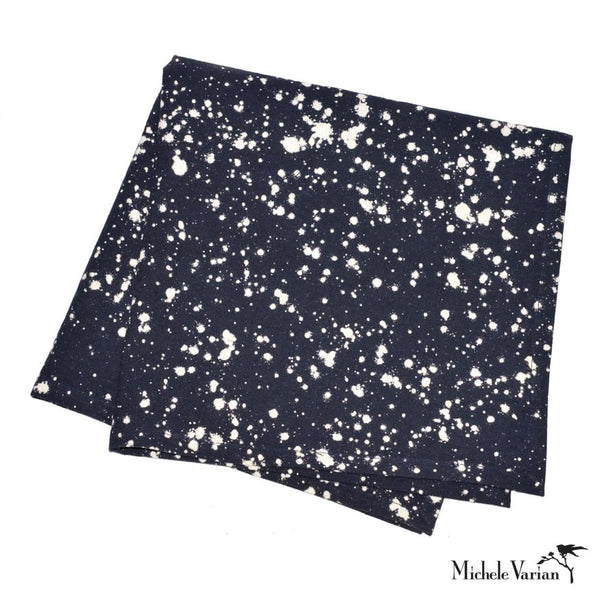 Dripped Paint Navy Blue Napkins