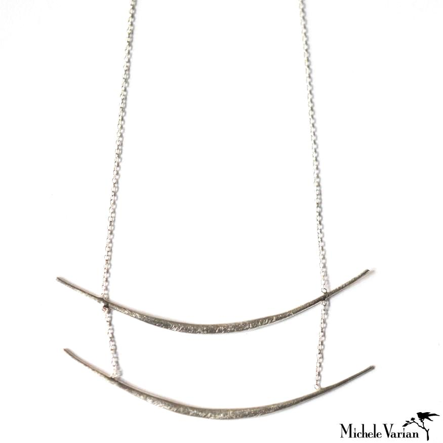 Sterling Silver Double Bar Necklace