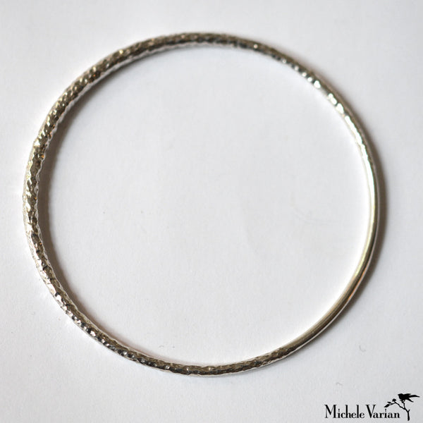 Crescent Moon Silver Bangle