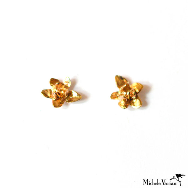 Gold Jasmine Blossom Earrings