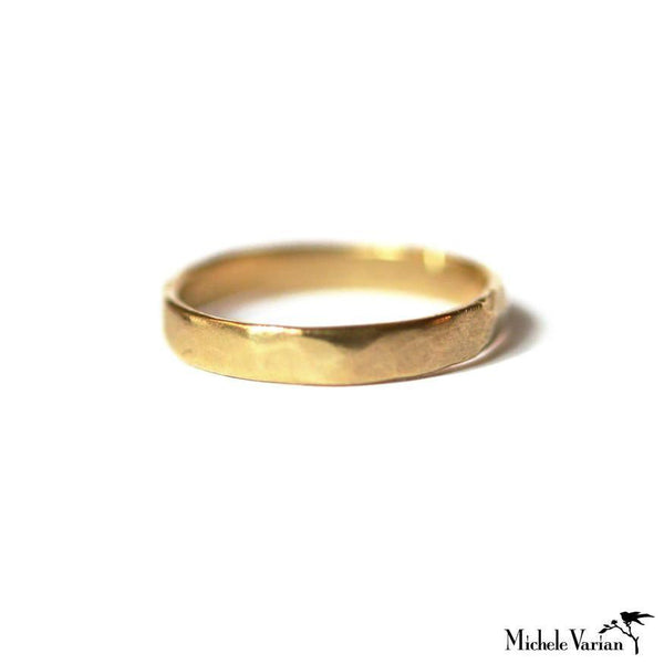 Hammered Band Gold Ring