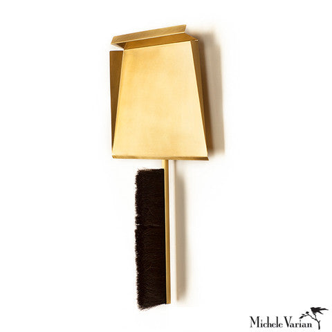 Brass Dust Pan & Broom