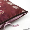 Silk Print Pillow Daisy Rouge 20x36