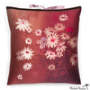 Silk Print Pillow Daisy Rouge  20x20