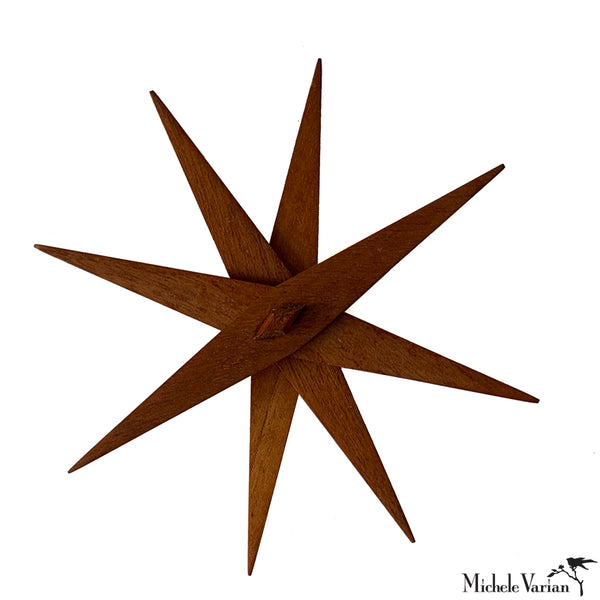 Foldable Wooden Star