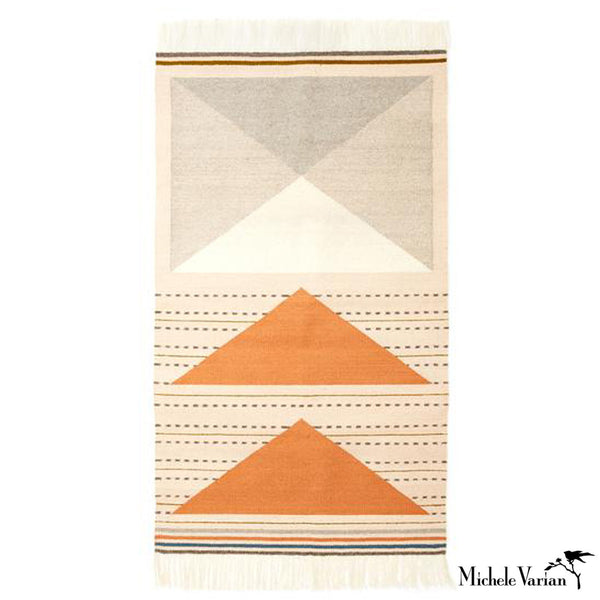 Triangle and Dash Rug