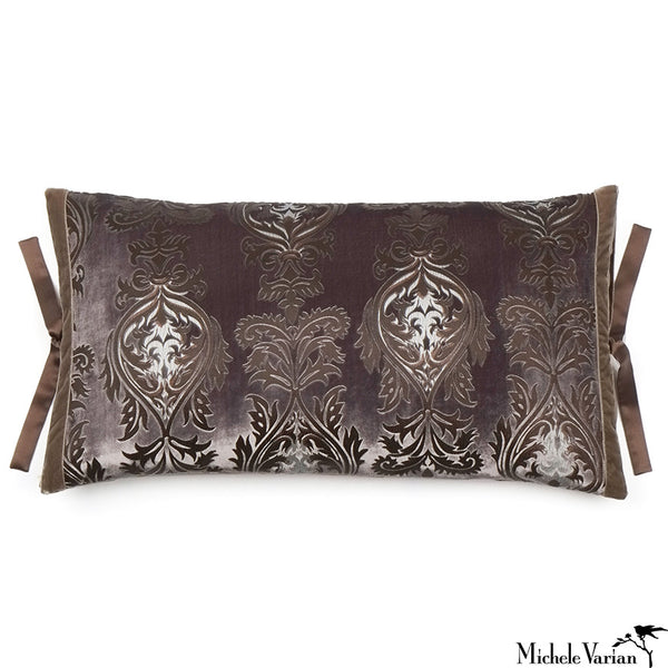 Printed Velvet Pillow Decadent Moonstone 12x22